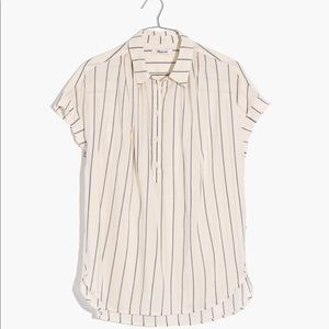 Madewell Central Popover Shirt Size S